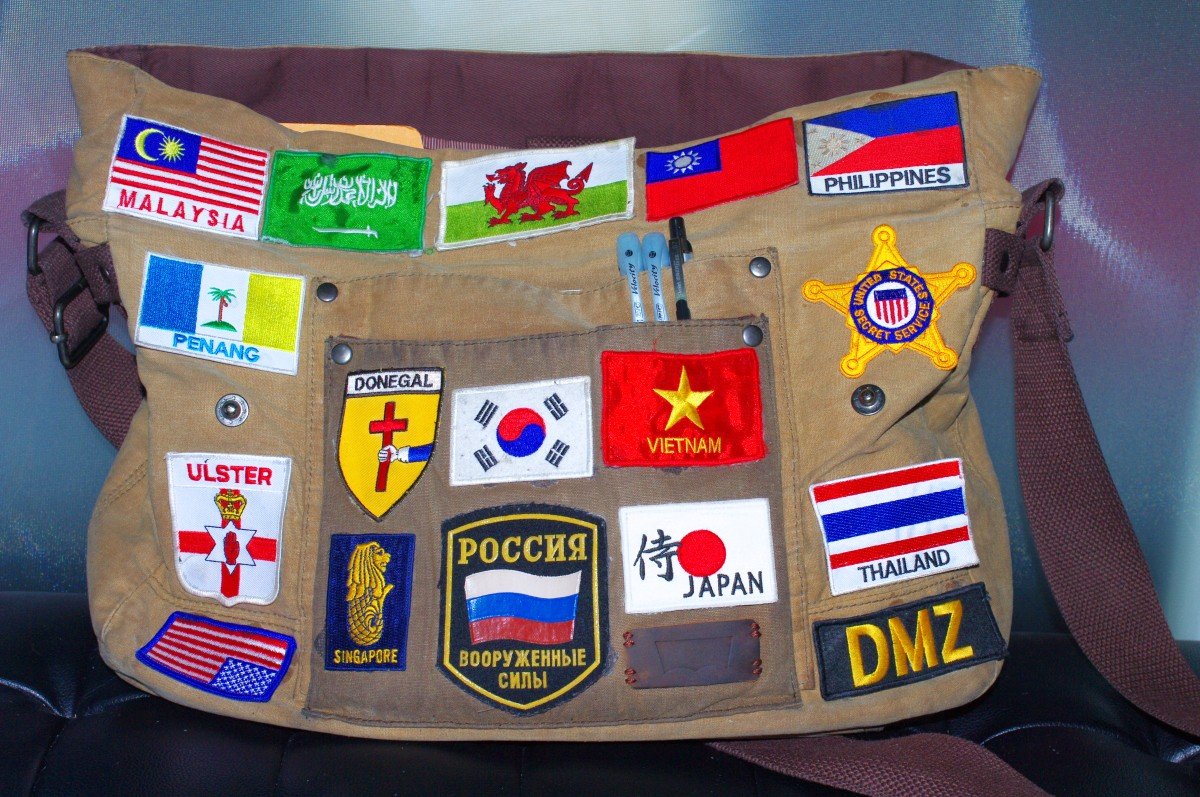 collecting souvenir patches and badges around the world